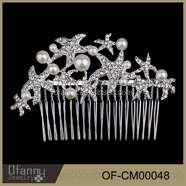 Bridal Wedding Cheap Tiara Hair Crown Comb Hair Comb For Women