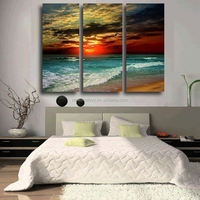 3 Piece Hot Sell Evening sea Modern Home Wall Decor painting Canvas Art HD Picture Print Painting Canvas Picture Wall Painting