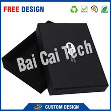 Wholesale cheap price made matt lamination black gift small custom cardboard box