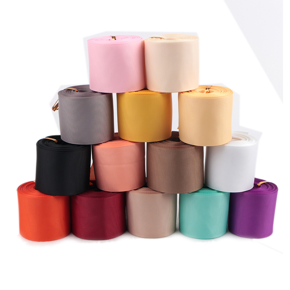 14pcs Suit Wholesale 50mm 100%Polyester Solid Grosgrain Ribbon 2 Inch