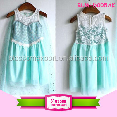 2015 HOT sales! New arrival wholesale chiffon Frozen Dress Elsa & Anna