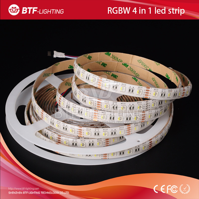 5m SMD5050 4 colors in 1 led RGBW led strip IP65 <strong>RGB</strong>+White/Warm whtie Flexible strip 12mm PCB DC12v