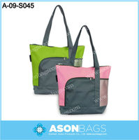promotional polyester tote bags with zipper pocket