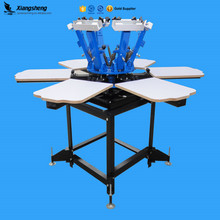 Textile rotary t shirt screen printing machine for sale