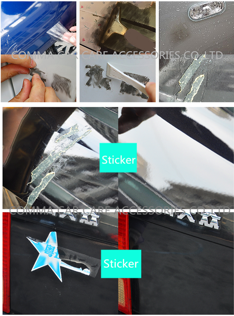 Car decals removable sticker glue remover cleaner spray