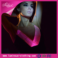 sexy night wear luminous ladies new design fashion crop top cutting