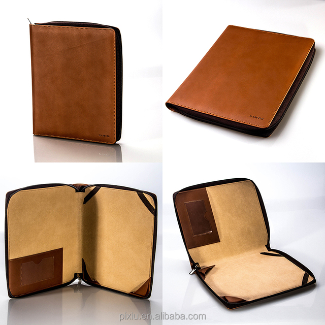 Leather Notebook Notepad paper notebook cover with calculator