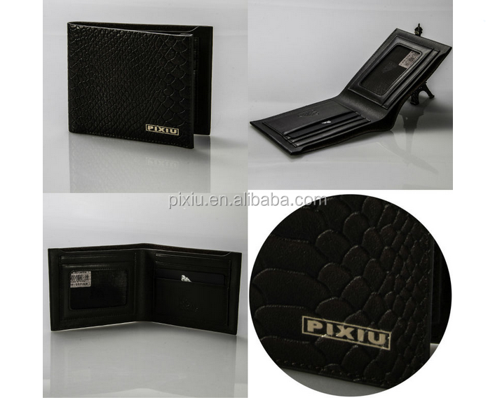 New Promotion Leisure Handmade Crocodile Leather Wallet for Men