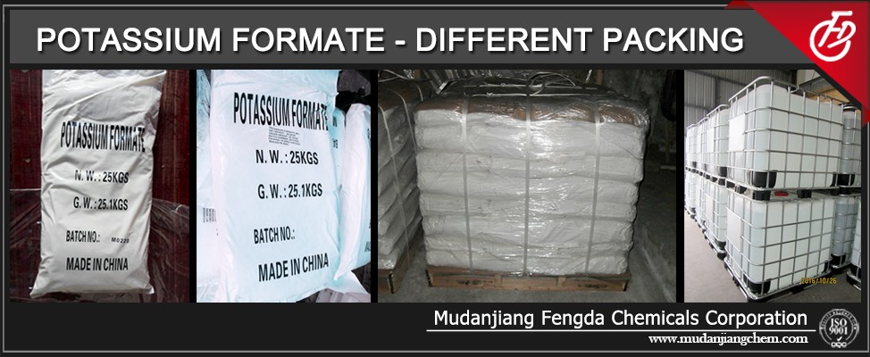 96%min. Potassium formate for oil drilling CAS No.: 590-29-4 Formic Potassium Salt