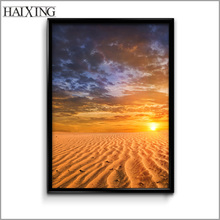 New Design Beautiful Sunset Scenery Oil Painting / Abstract Natural Landscape Paintings for Home Wall Decoration