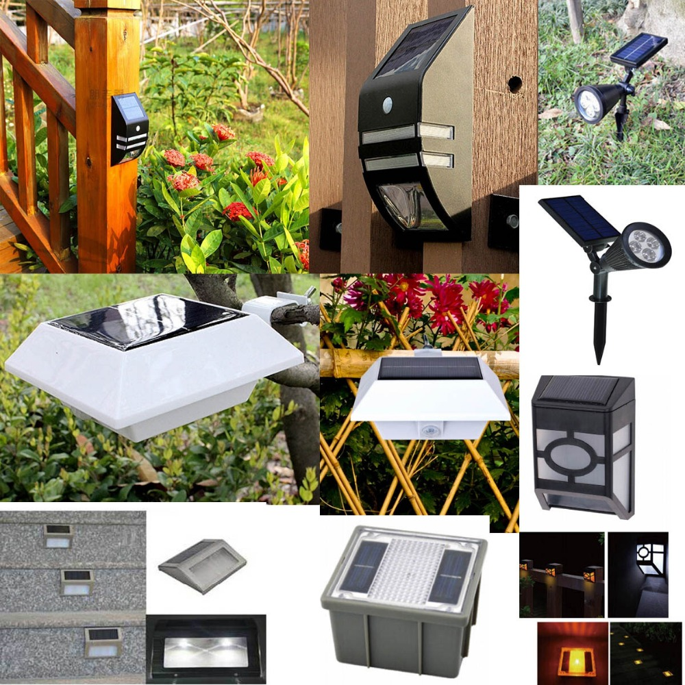 Waterproof 360 angle Adjustable 5V 3W 2 Head with 1 Panel 400lm Outdoor Solar Wall Light (YH0502E)