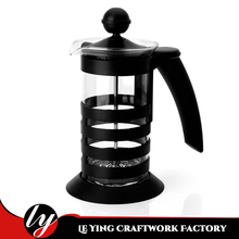 350ml / 11 oz. Black French Press Coffee and Tea Maker with Stainless Steel Filter