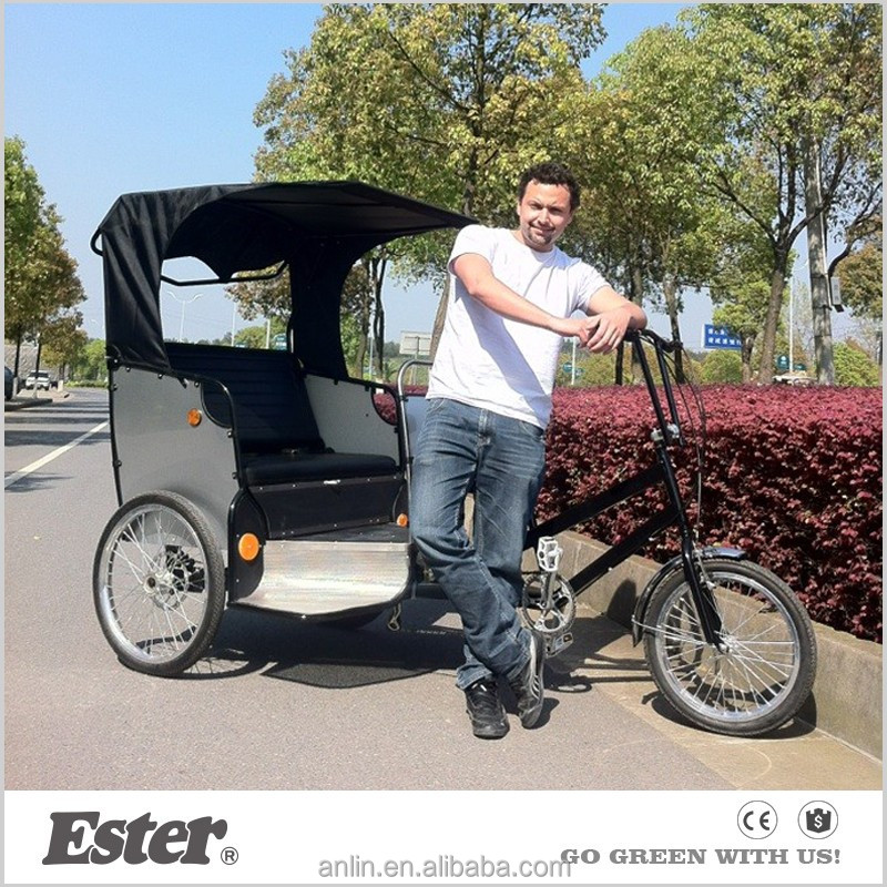 ESTER Manpower Taxi Passenger pedal bicycle rickshaw price for sale usa