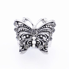 Costume Jewelry Wholesale Engagement Sterling Silver Butterfly Valve Seat Ring