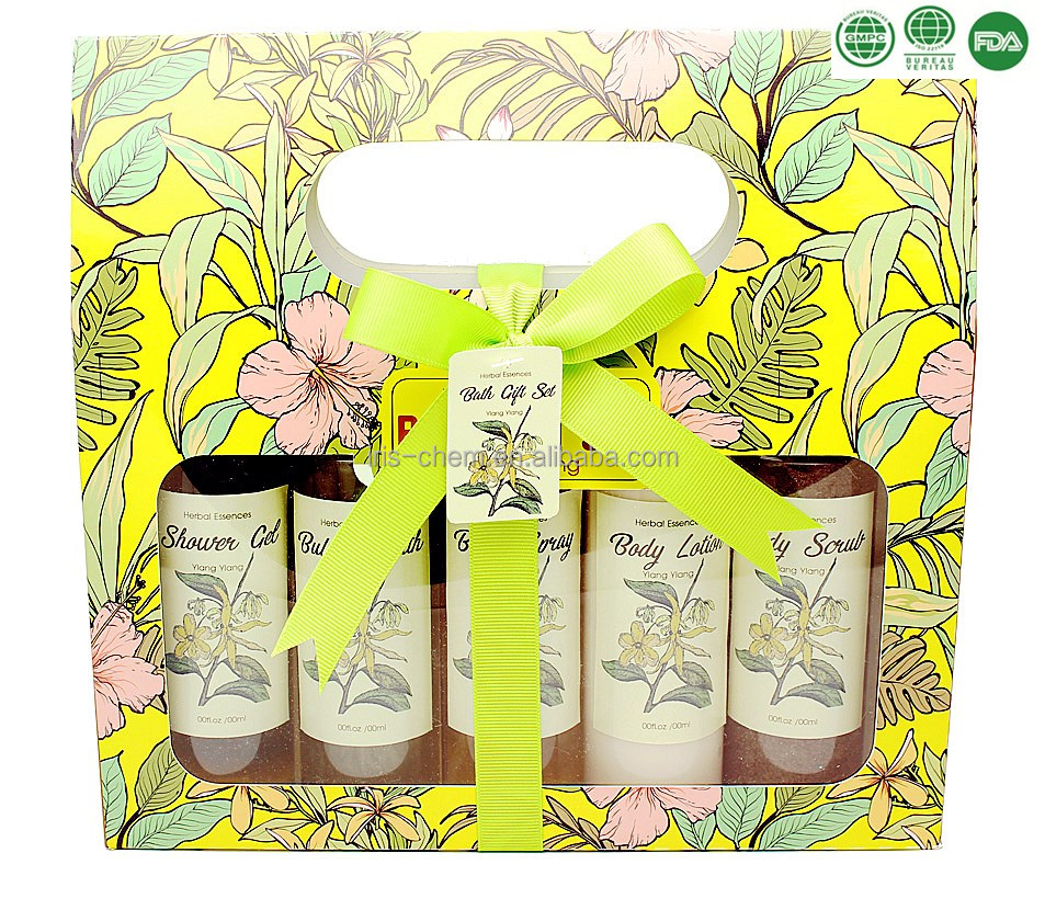 Wholesale bath and body works herbal extract body care full bath gift set