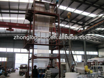 Plastic film blowing machine, HDPE, LDPE, LLDPE