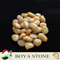 yellow decorative pebble stone for garden paving