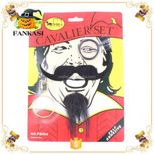 Novelty Pirate Fake Moustache Monocle Kits