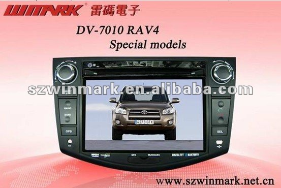 7inch double din car audio for Toyota RAV4 with DVD/GPS/Navigation/BT/Radio/RDS/TV/SWC/iPod/3G/etc DH7010
