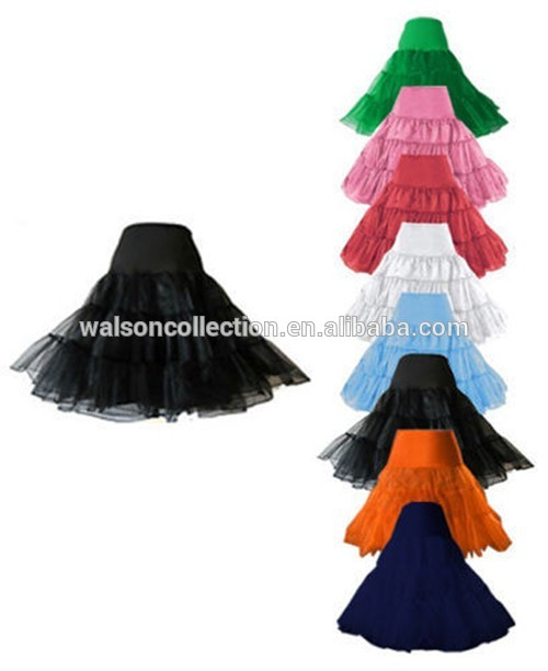 "Red White Black 26"" Petticoat Underskirt Prom Party Swing Rockabilly Dress Fancy Dress"