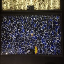 Polished Nature stone blue sodalite slab for home and hotel decoration