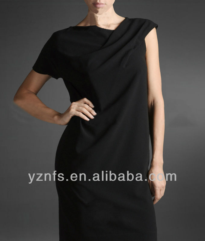 Black Long 2012 Ladies New Style Fashion Beautiful Evening Dress