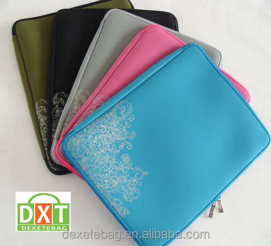 "2015 Light 10""-17"" neoprene laptop sleeve wholesale with customized brand printed"