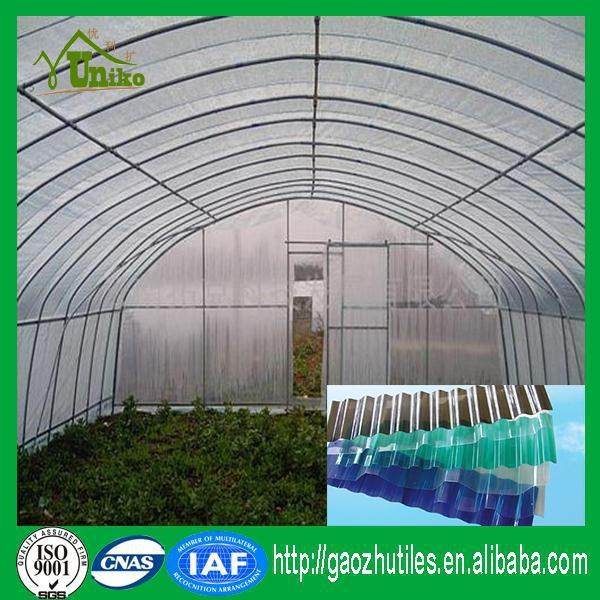 transparent pc plastic corrugated sheet for greenhouse