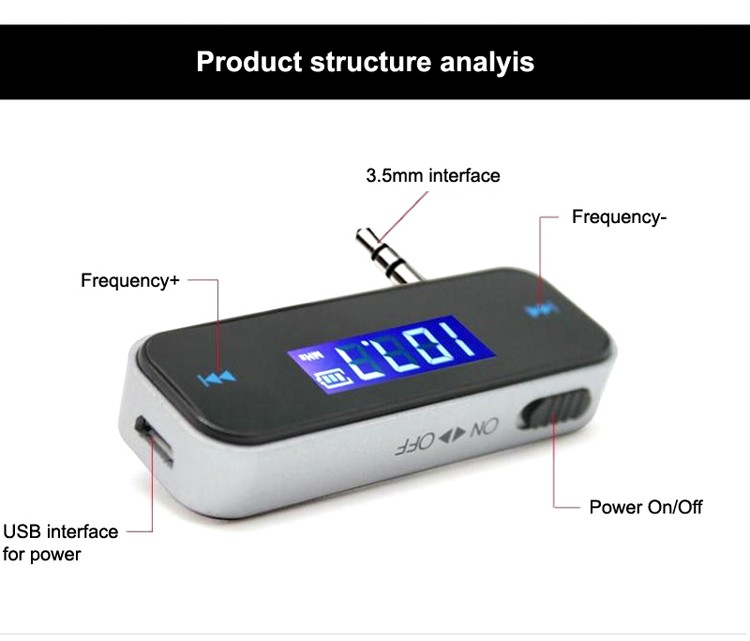 GXYKIT Hot Sales Cheap touch key design wireless car BT fm transmitter for phone