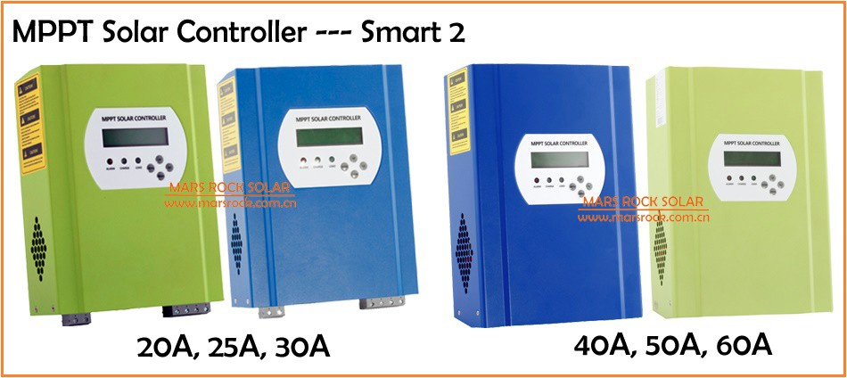 40A 12V/24V/48V automatic recognition MPPT solar charge controllers with RS232 and LAN communication function