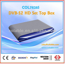 fta hd set top box dvb s2,hd dvb-s2 fta set top box,satellite tv decoder hd COL7828S