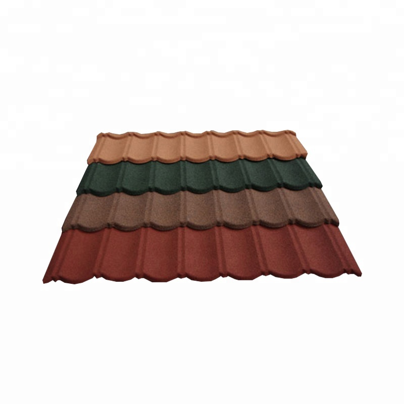 Red Mixed Color Stone Coated Roofing Shingles