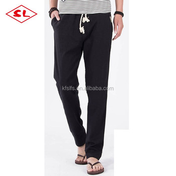Kaifeng factory price custom elastic waist chino pants twill slim pants men