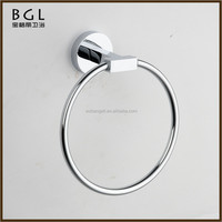 Hotel decorative Circular shape Zinc alloy Chrome finishing Name of toilet accessories Towel ring