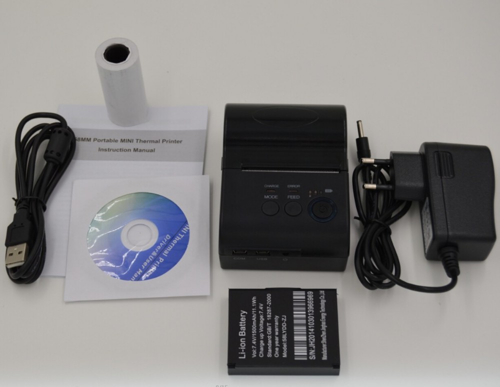 58 mm Bluetooth Thermal Printer Bluetooth Printer Receipt Printer, bluetooth+ USB + serial port (Windows + android)