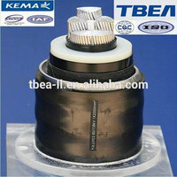 66~500KV XLPE Insulated Corrugated Aluminium Sheathed High Voltage Power Cable