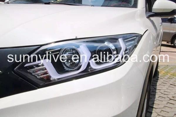 For HONDA HRV HR-V Vezel LED Head Lamp 2016 SN black Housing