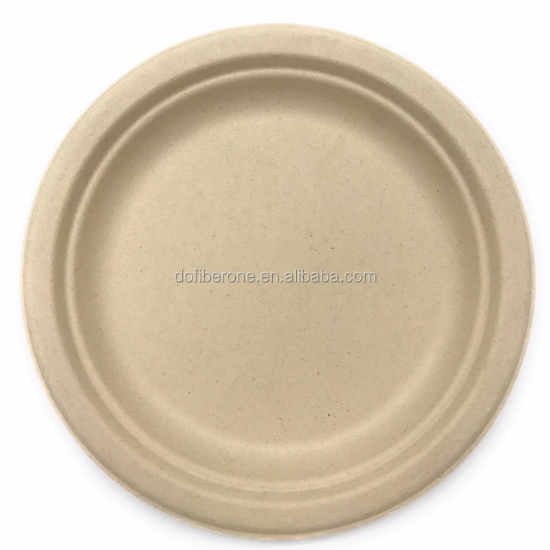 Tableware Corn Starch Bio-degradable Dinner Plate disposable microwave safe plate
