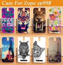 14 Patterns soft tpu case cover for ZOPO ZP998 ZP999 / Colored Drawing animals flower eiffel towers Case for ZOPO 998 999