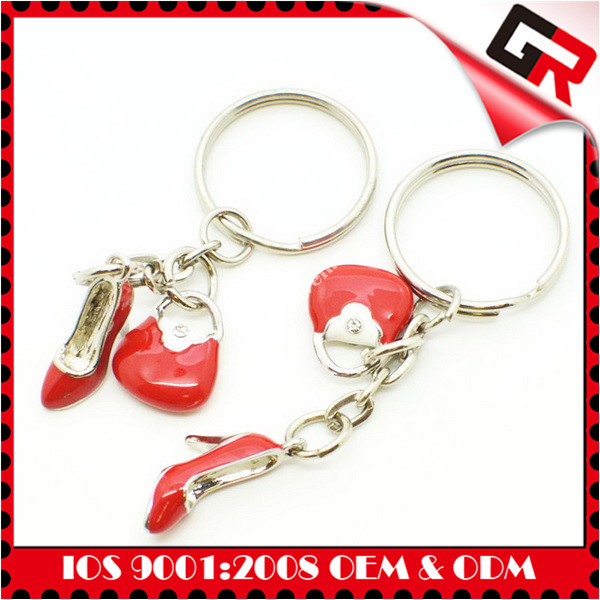 Classic style zinc alloy spinning key chain