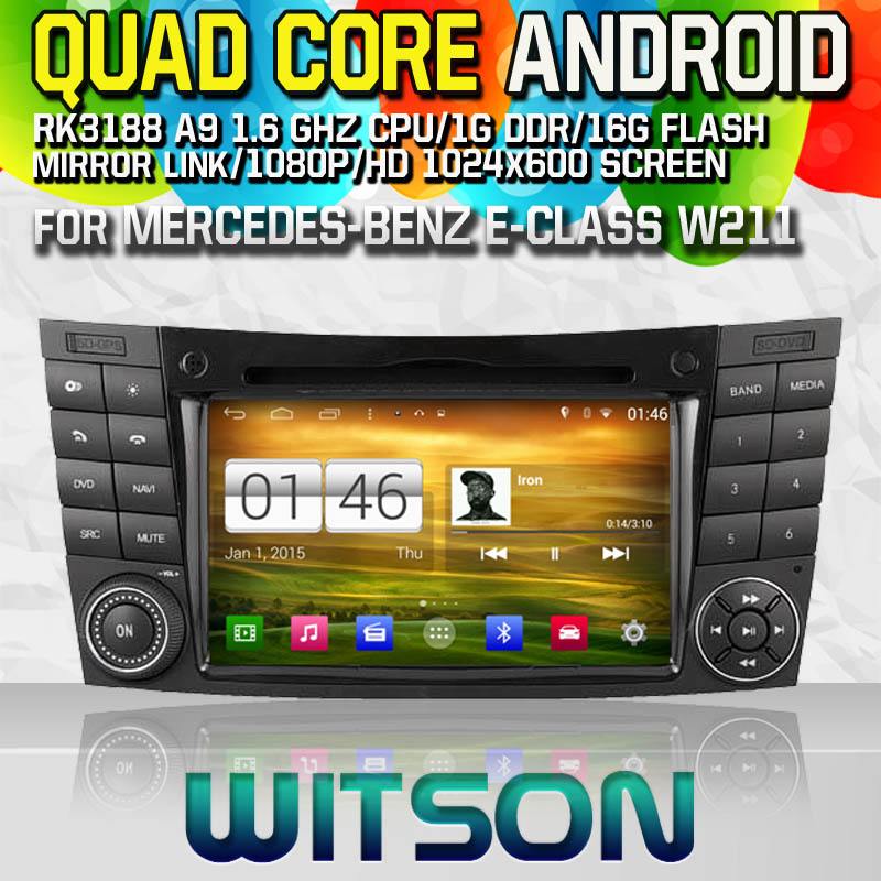 Witson S160 Android 4.4 Car DVD GPS For MERCEDES-BENZ E-CLASS W211(2002-2008) with Quad Core Rockchip 3188 1080P 16g ROM WiFi