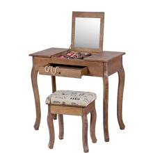 MDF french style wooden dressing table