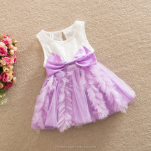 New Summer Kids Bow Princess Frocks Beautiful Baby Girls Sleeveless Cotton Dresses
