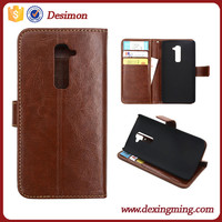 Newest cell phone case flip leather case cover For LG G2(D802)