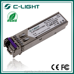1000BASE-BX10 SFP module for single-strand SMF, 1490-nm TX/1310-nm RX wavelength, single LC connector glc-bx-d