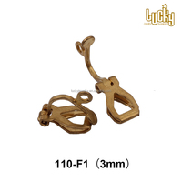 Factory price jewelry findings wholesale rhodium plating metal brass earring clips for non pierced earring making