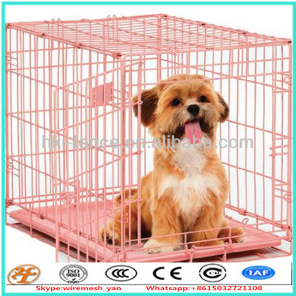 "factory supply 42"" 2 doors pet folding suitcase dog cat crate"
