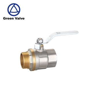 Gutentop good quality long stem male female threaded end brass nickle plated ball valves dn20