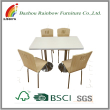 Small dining room space-saving dining table and chair set