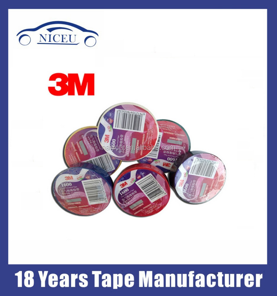 Vinyl electrical tape 3M 1500/1600 electrical tape PVC insulation electric tape